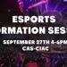 Esports Information Session w/EGF